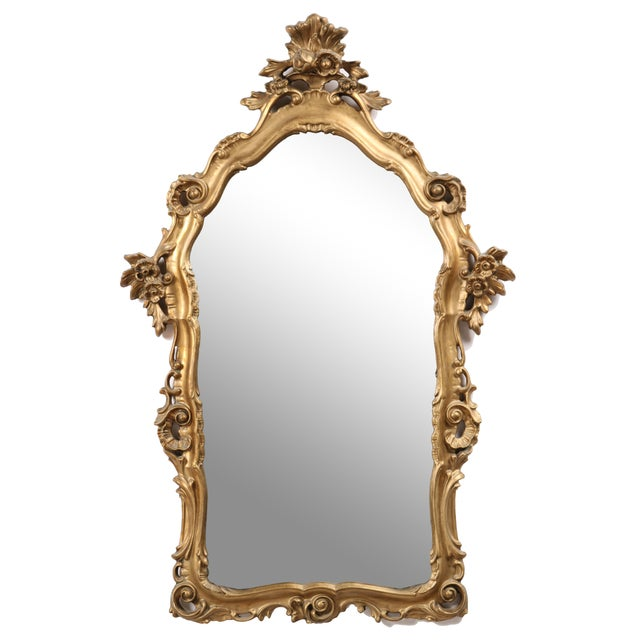 1960s French Rococo-Style Parlor Mirror - Image 1 of 4