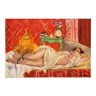"""1940s Henri Matisse """"Red Odalisque"""", First Edition Period Swiss Lithograph For Sale"""