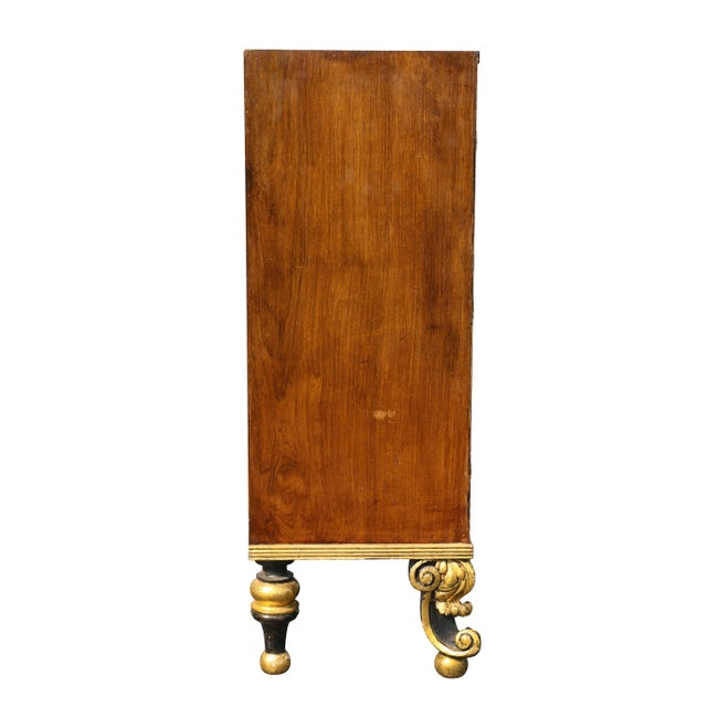 Regency Style Rosewood and Gilded Credenza For Sale - Image 9 of 11