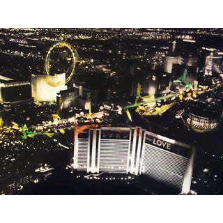 """Las Vegas Aerial #6"" Original Artwork by Pete Kasprzak For Sale"
