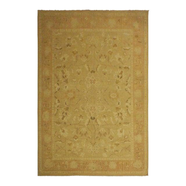 Kafkaz Sun-Faded Ara Lt. Tan/Rose Wool Rug -10'3 X 13'7 For Sale