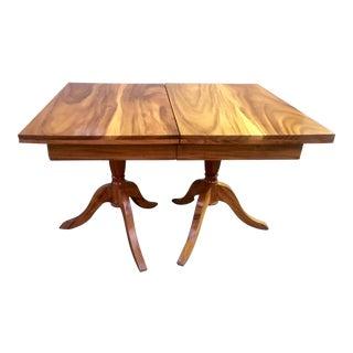 1960s Organic Modern Solid Koa Slab Dining Table For Sale
