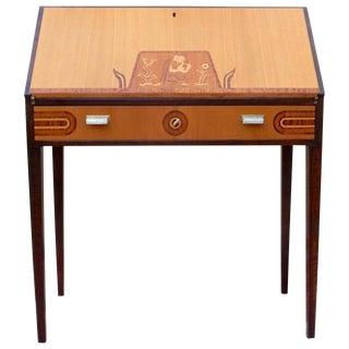 1920s Art Deco Ferdinand Lundquist Drop-Front Secretary Desk For Sale