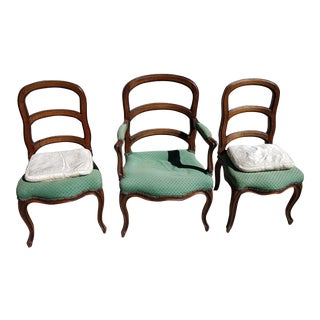 Antique French Louis XV Dining Chairs - Set of 3