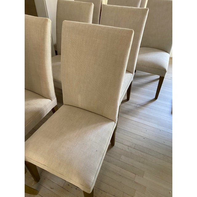 Contemporary Restoration Hardware Hudson Chairs, S/10 For Sale - Image 3 of 9