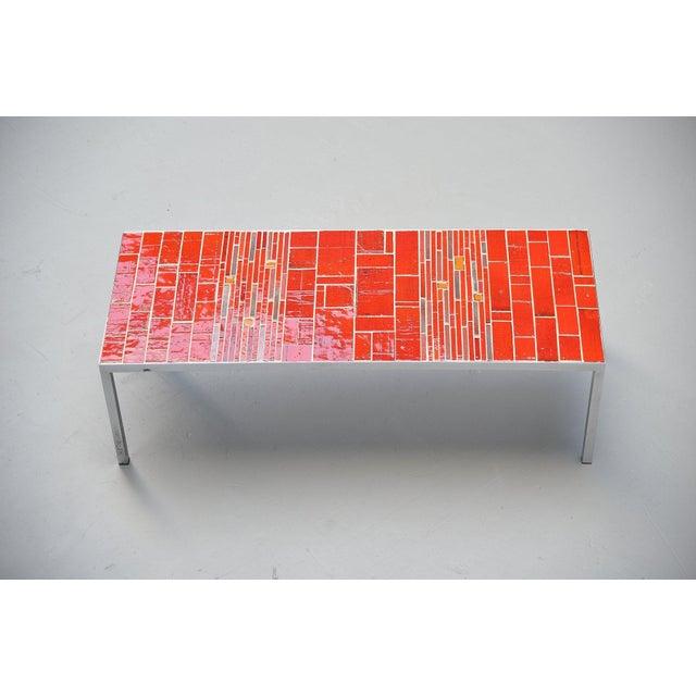 Red Rogier Vandeweghe Amphora Ceramic Tiles Coffee Table For Sale - Image 8 of 10