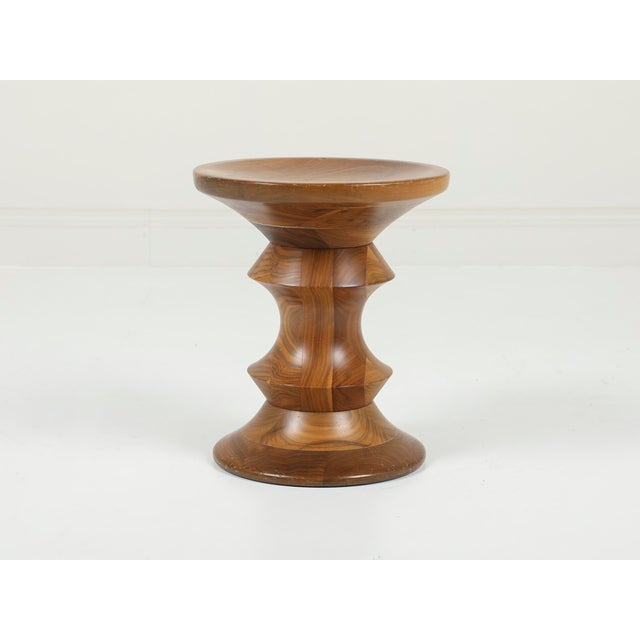 """Charles & Ray Eames   Herman Miller USA, 2000's Solid Walnut 13""""W x 15""""H Original Herman Miller Eames Time-Life Stool..."""