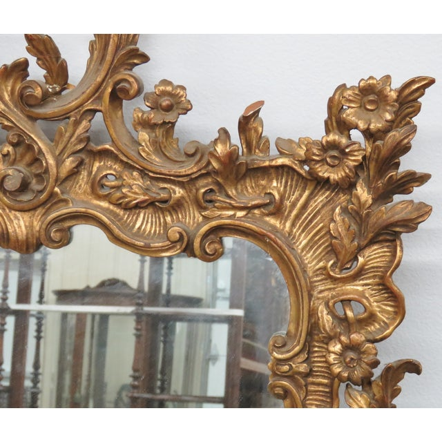 Italian Gilt Carved Wall Mirror - Image 4 of 6