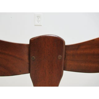 1990s Vintage Mahogany French Country Ladder Back Rush Seat Settee Preview