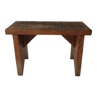 Rustic Chopping Block Stool