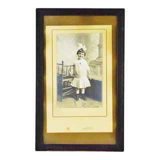 Vintage Framed Photograph of Young Girl For Sale