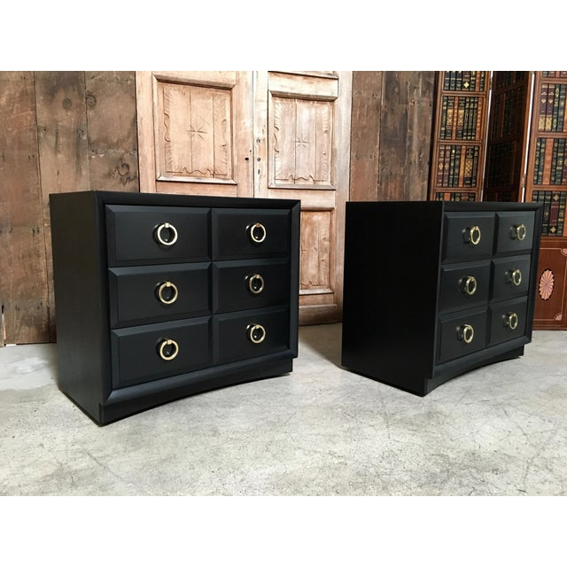 Mid-Century Modern Robsjohn-Gibbings for Widdicomb Chests - a Pair For Sale - Image 3 of 4
