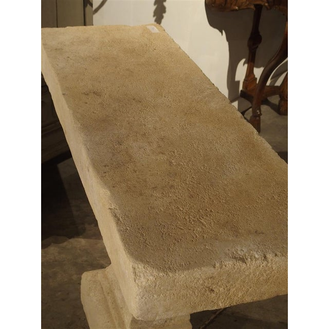 Pair of Carved Limestone Console Tables from the South of France - Image 7 of 11