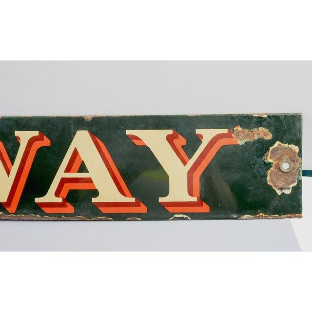 Vintage British Railway Sign For Sale - Image 4 of 5