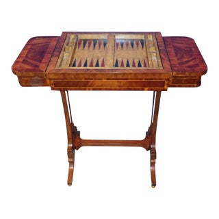 20th Century Federal Maitland Smith Reversible Inlaid Game Table For Sale