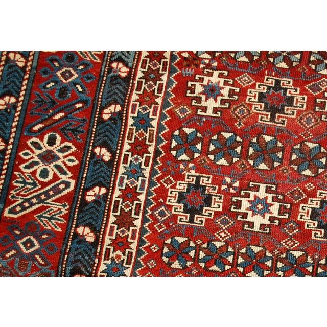 1880s Antique Caucasian Chichi Rug - 4′2″ × 5′6″ - Image 2 of 10