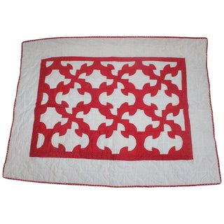 Antique Crib Quilt From Lancaster, Pa For Sale