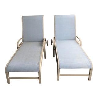 Modern Brown Jordan Quantum Modern Sling Chaise- a Pair For Sale