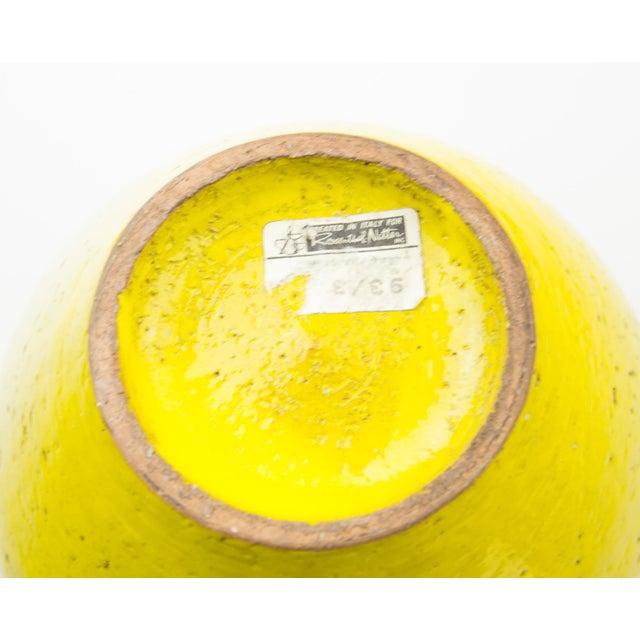Ceramic Bitossi for Rosenthal Netter Yellow Pottery Vase For Sale - Image 7 of 9