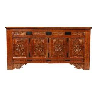 Early 19th-C. Handcrafted Tryolean Chest For Sale