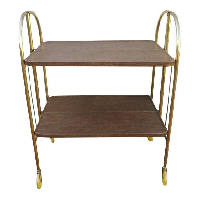 Folding Metal Bar Cart - Image 1 of 10