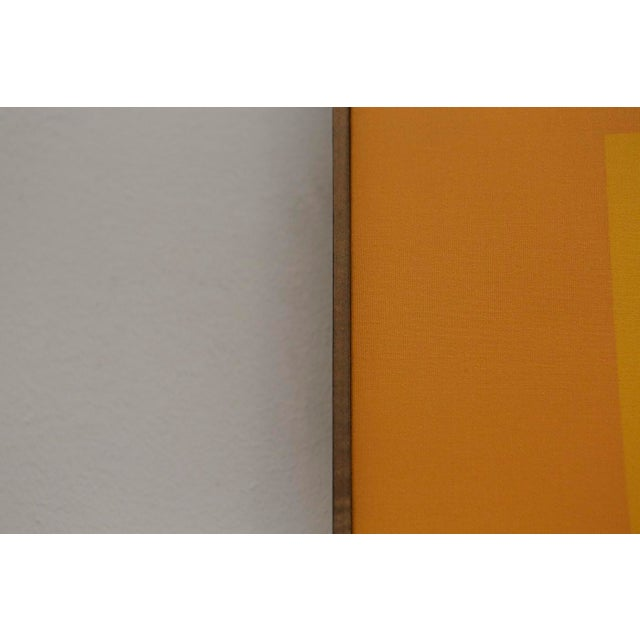 """Wonderful Midcentury Modern serigraph silkscreen on Belgian linen, created as an homage to Josef Albers' """"Homage to the..."""