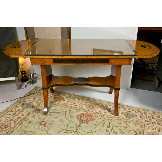 Art Nouveau Satinwood Sofa Table For Sale - Image 9 of 10