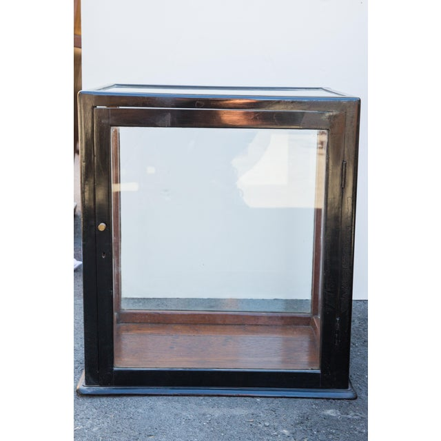 Ebonized Curio Cabinet For Sale - Image 4 of 9