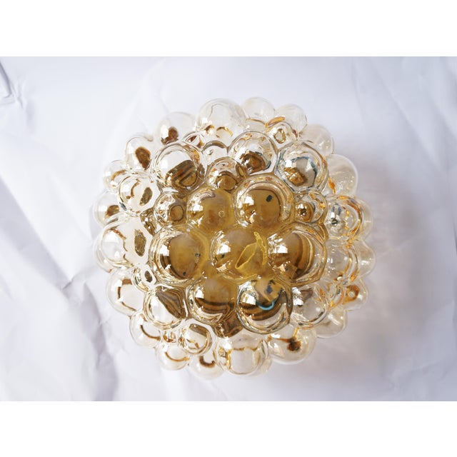 1960s Amber Bubble Flush Mount Sconce by Helena Tynell for Limburg For Sale In Los Angeles - Image 6 of 6