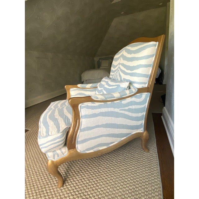 Henredon Club Chair With Cross Pattern Back For Sale - Image 10 of 12