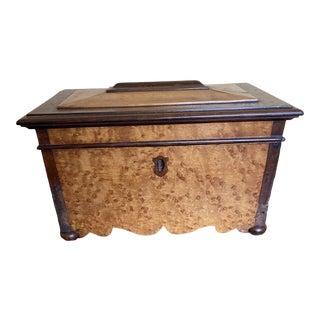 19th Century English Maple Tea Caddy For Sale