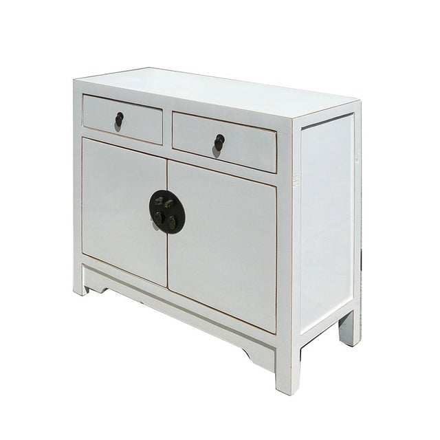 Slim & Narrow White Side Table/Console/Cabinet - Image 4 of 5