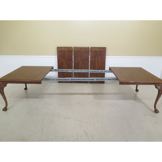 Wood 1980s Traditional Karges Ball & Claw Walnut Dining Room Table For Sale - Image 7 of 13