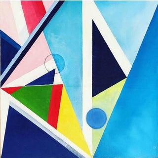 Modern Acrylic on Canvas Painting by Shabs Beigh, Kites 5 For Sale
