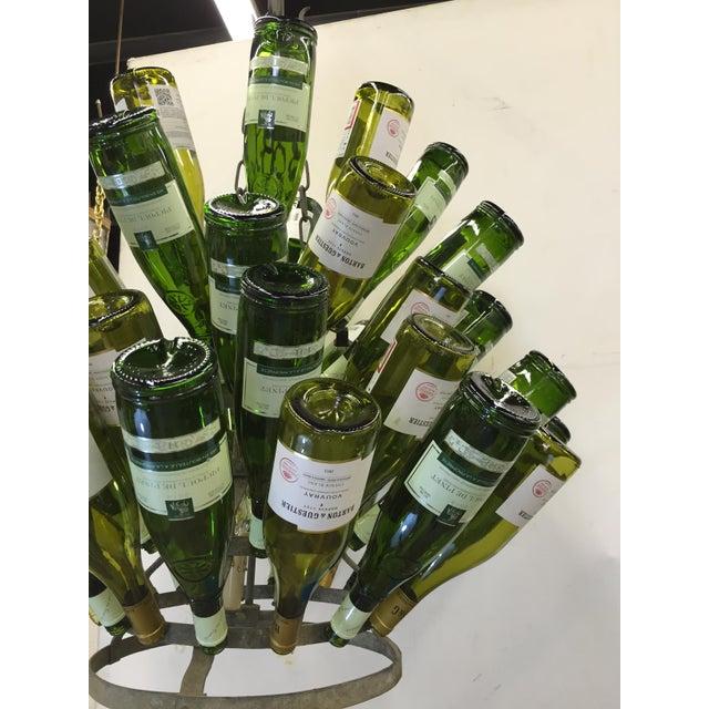 Vintage French Bottle Rack Chandelier - Image 3 of 5