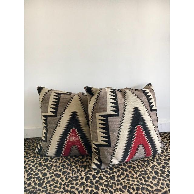 Geometric Navajo Weaving Pillows - Pair - Image 2 of 6