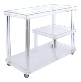 Image of Lucite Bar Carts and Dry Bars