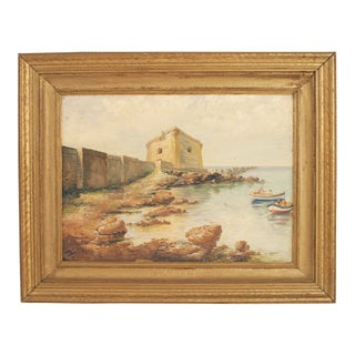 American Seaside Fortress Painting For Sale