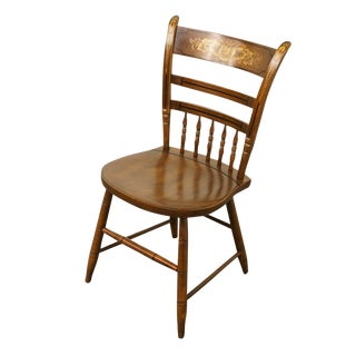 Authentic Hitchcock Stenciled Accent Side Chair For Sale