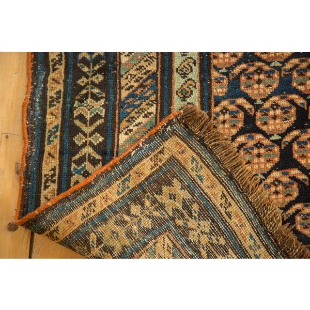 "Blue Antique Caucasian Rug Runner - 3'10"" x 8'10"" For Sale - Image 8 of 11"