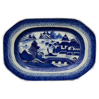 Antique Chinese Export Canton Platter For Sale