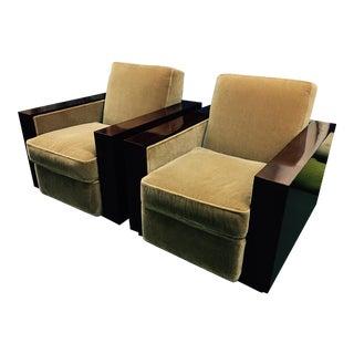 Ralph Lauren Modern Metroplois Club Chairs - a Pair