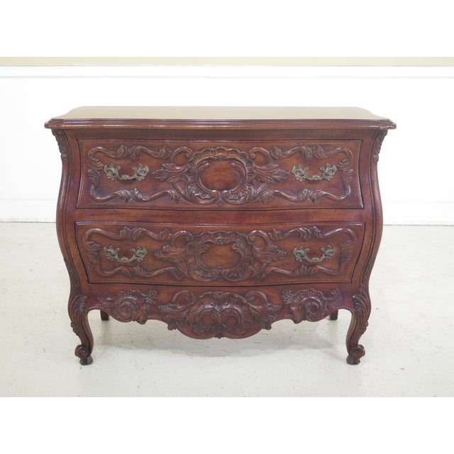 John Widdicomb French Louis XV Style Carved 2 Drawer Chest For Sale - Image 11 of 11