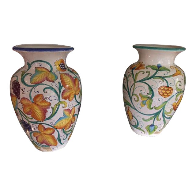 Colorful Italian Urns - A Pair - Image 1 of 4