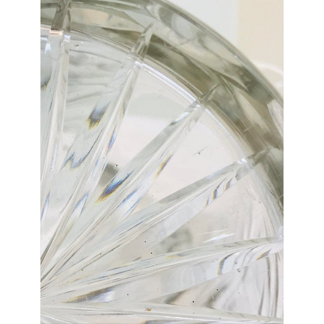 Heavy Cut Glass Floral Large Pitcher For Sale - Image 9 of 10
