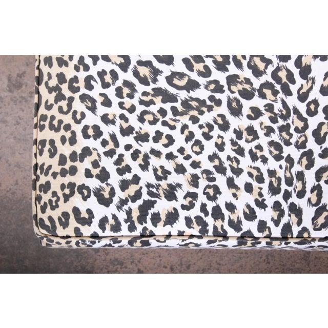 Black Patrick Frey X-Base Leopard Stool or Ottoman, Paris For Sale - Image 8 of 13