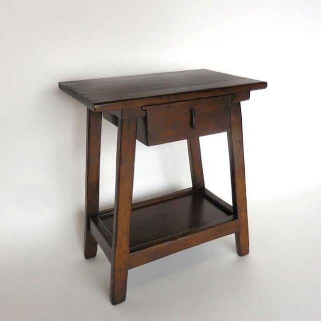 Custom Wood Nightstand/Side Table with Drawer and Shelf - Image 4 of 9