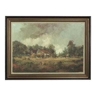 Framed Oil Painting on Canvas by Le Page
