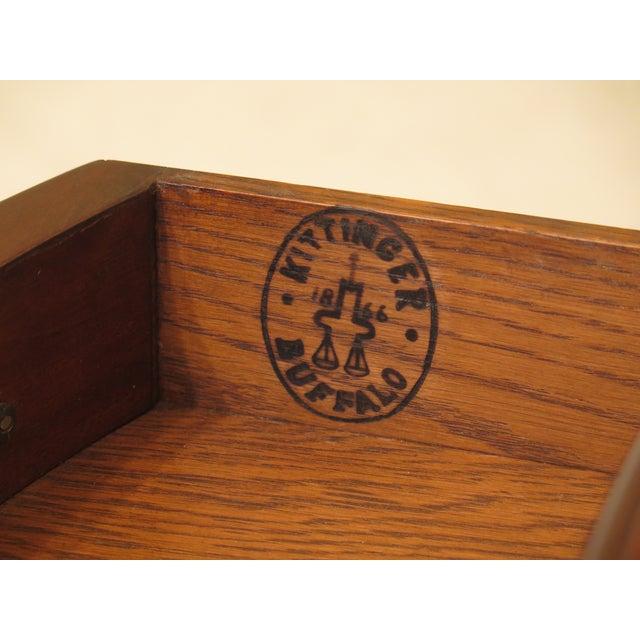 1940s Federal Kittinger Vintage Mahogany Drop Leaf Pembroke Table For Sale - Image 12 of 13