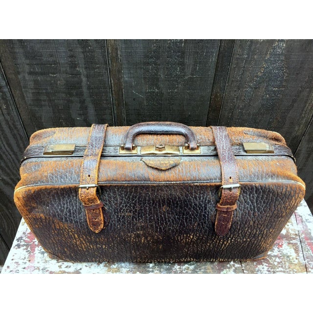 Leather Strap Suitcase For Sale - Image 13 of 13